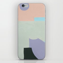 Lavender & Light Green iPhone Skin