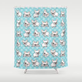 French Bulldog Puppies Shower Curtain