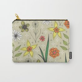retro styled floral print Carry-All Pouch