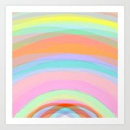 Double Rainbow - Fluor colors - Unicorn dreamers Art Print