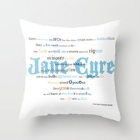 jane eyre Throw Pillows featuring Jane Eyre Quote by Lisa Naselli