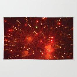 Red Fireworks Rug