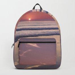 Barrosa Beach At Sunset. Cadiz Backpack