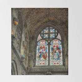 Chapel Stained Glass Window Throw Blanket