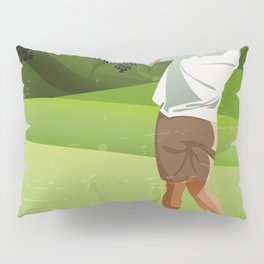 Mountain Golfer Pillow Sham