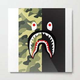 Bape Shark army Metal Print