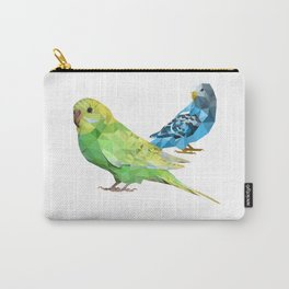 Geometric green and blue parakeets Carry-All Pouch