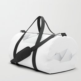 Paper folded white mouse or rat design Duffle Bag