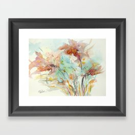 Autumn (abstract watercolor) Framed Art Print