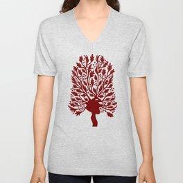 Heart Hawthorn Tree Unisex V-Neck