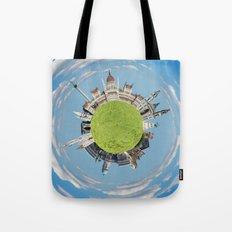Budapest tiny planet Tote Bag