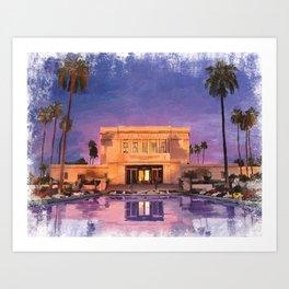 Mesa Arizona LDS Temple Art Print
