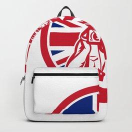 British Cameraman Union Jack Flag Icon Backpack