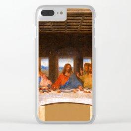 The Last Supper by Leonardo da Vinci  Jesus Christ Clear iPhone Case