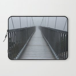 The Swinging Bridge in Fog on a Mountain Laptop Sleeve
