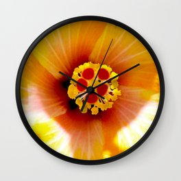 Yellow Hybiscus Wall Clock