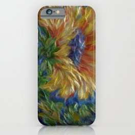 Sunflower  Decorative Painting by OLena Art iPhone Case