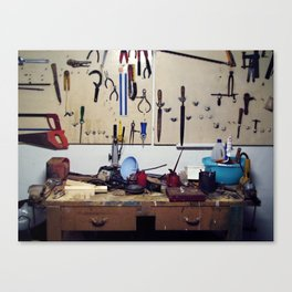 Dirty workbench Canvas Print