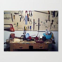 Dirty workbench Canvas Print