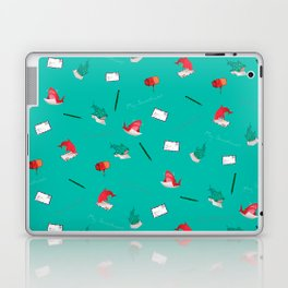 Teal Whale Shark and Shark Laptop & iPad Skin