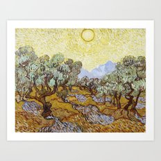 Olive Trees by Vincent van Gogh Art Print