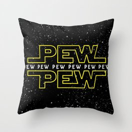 Pew Pew v2 Throw Pillow