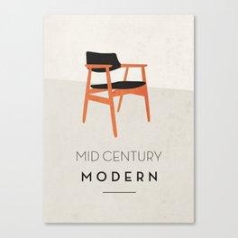 Mid Century Modern Canvas Print