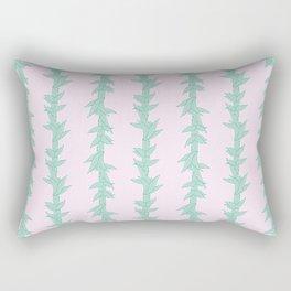 Thistle leaves Lines Pattern Rectangular Pillow