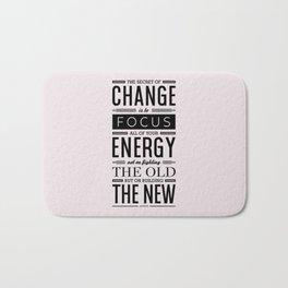 Lab No. 4 The Secret Of Change Socrates Life Motivational Quote Bath Mat