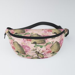 Honey Bee Neck Gator Floral Bee Hive Pattern Fanny Pack