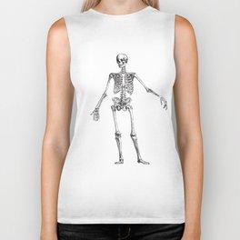 No body to dance with - skeleton Biker Tank