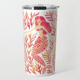 Kelp Forest Mermaid – Peach Palette Travel Mug