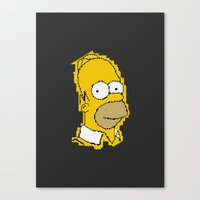 simpson Canvas Prints featuring Homer Simpson by Osman SARGIN