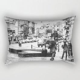 In a hurry Rectangular Pillow
