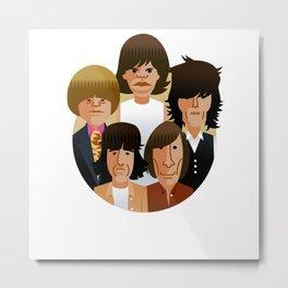 MICK-KEITH-CHARLIE-BRIAN-BILL 1968 Metal Print