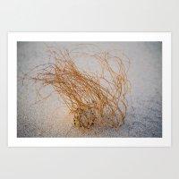 Sand Dune Hair Art Print