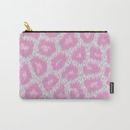 Snow Leopard style - Silver Pink Carry-All Pouch