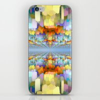 sci fi iPhone & iPod Skins featuring Sci Fi Horizons by Phil Perkins