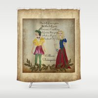 shakespeare Shower Curtains featuring Mixed Media Shakespeare  by Artist Gaya