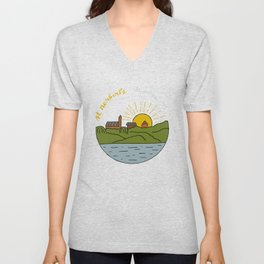 St. Norbert College From Across the River Unisex V-Neck