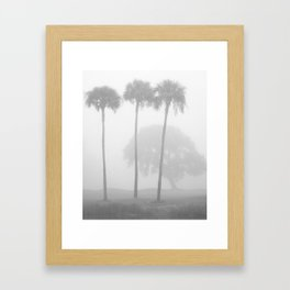 Sea Island Fog Framed Art Print