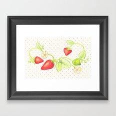 Strawberry Vine Framed Art Print