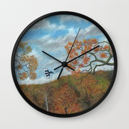 Magpie Woods Wall Clock