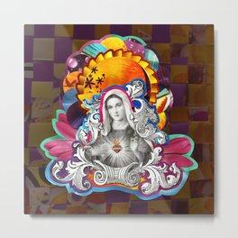 Imaculado Coração de Maria (Immaculate Heart)  Metal Print