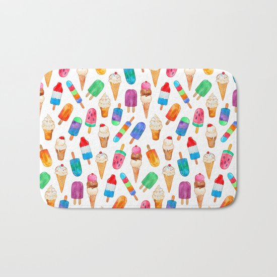 Summer Pops and Ice Cream Dreams Bath Mat