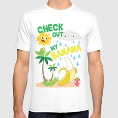 Check out MY BANANA Mens Fitted Tee White SMALL
