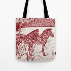 ZEBRA: VINGATE RED Tote Bag