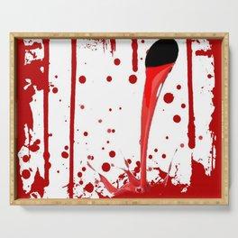 BLEEDING RED ART Serving Tray