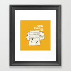 Printers and their feelings Framed Art Print