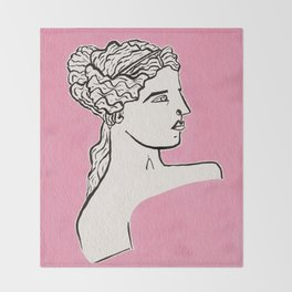 Venus de Milo statue Throw Blanket